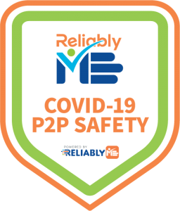 COVID-19 P2P Safety badge